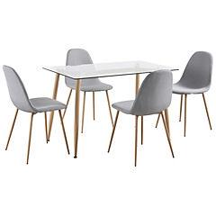 Juego de comedor 4 sillas 70x70x120 cms