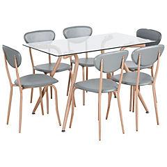 Juego de comedor 4 sillas 82x40x46 cms