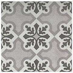Porcelanato esmaltado 25x25 cm gris/blanco 1 m2