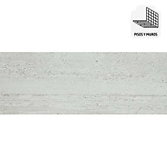 Porcelanato esmaltado impresión digital 30x90 cm marfil 1,08 m2