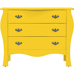 Cómoda 3 cajones 113x50x90 cm amarillo