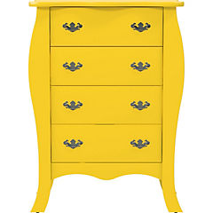 Cómoda 4 cajones 85x49x119 cm amarillo