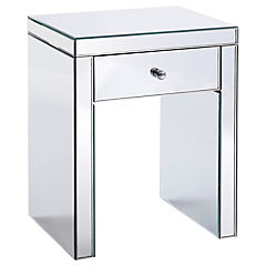 Mesa lateral espejo 48x38x58 cm
