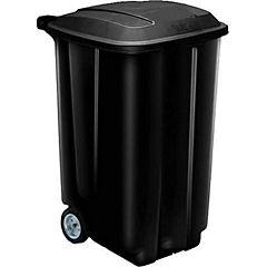 Contenedor de basura 189 l Negro