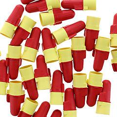 Conector de resorte rojo/amarillo 25 unidades