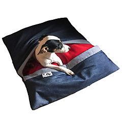 Cama-saco para mascotas Lateral M azul