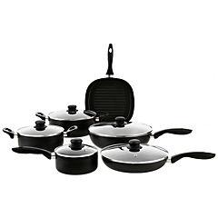 Batería de Cocina 11 Piezas Aluminio Negro