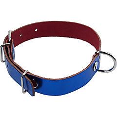 Collar de suela de 50x2,5 cm color azul metálico