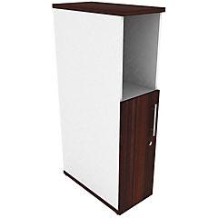 Mini locker media puerta izquierdo blanco/chocolate