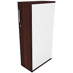Mini locker derecho blanco/chocolate