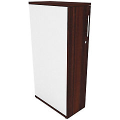 Mini locker izquierdo  blanco/chocolate