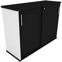 Gabinete puertas correderas 1200 blanco/ negro