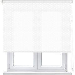 Cortina enrollable traslúcida Cubo 165x250 cm blanca