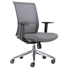 Silla ejecutiva minimal  asiento negro respaldo gris