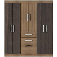 Closet  6 puertas 2 cajones 1 zapatera bicolor