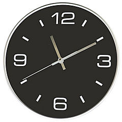 Reloj mural decorativo plata/negro