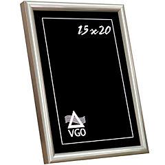 Marco metalizado redondeado 20x25 cm blanco