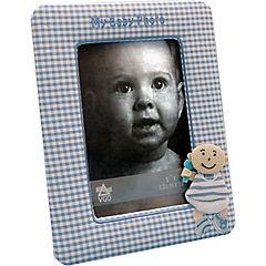 Marco de tela infantil cuadrille 13x18 cm celeste