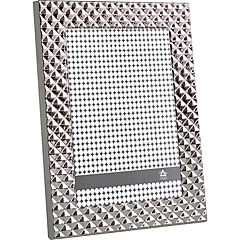 Marco metal rombos 15x21 cm silver