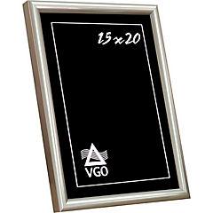 Marco metalizado redondeado 10x15 cm blanco