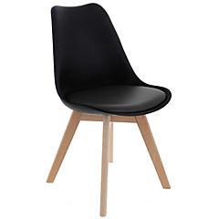 Silla polipropileno 65x55x54 cm negra con asiento negro