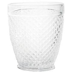 Vaso vidrio bajo panal transparente