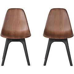 Set 2 sillas 46x47x83 cm plástica Chocolate