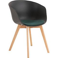 Set 2 sillas 55x57,5x80 cm plástica Negra