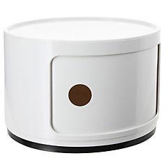 Organizador bicolor 1 cuerpo 33x33x24 cm blanco puerta blanca