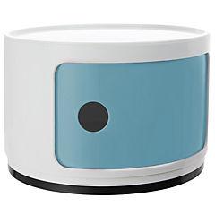 Organizador bicolor 1 cuerpo 33x33x24 cm azul puerta blanca