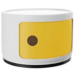 Organizador bicolor 1 cuerpo 33x33x24 cm blanco puerta amarilla