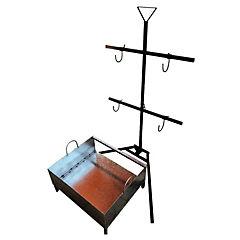Asador vertical o para cordero con fogón incluído
