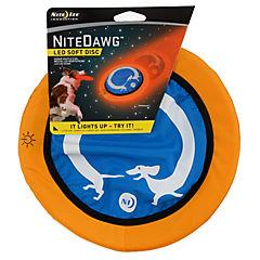 Frisbee de tela para perros con luz led roja,