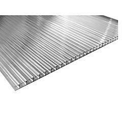 Policarbonato alveolar 6 mm 210x350 cm gris