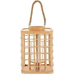 Linterna bambú 22,5x31,5 cm