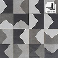 Porcelanato 58x58 lille gris deco 1.6