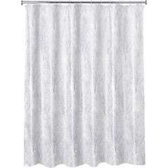 JUST HOME COLLECTION - Cortina de baño rama plata 178x180 cm