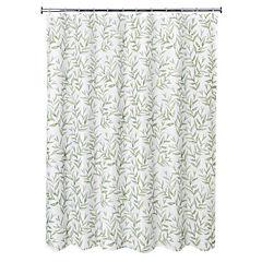 Cortina de baño hojas 178x180 cm
