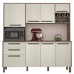 Mueble para cocina 192x180x43 cm nogal/arena