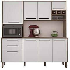 Mueble para cocina nogal/blanco 192x180x43 cm
