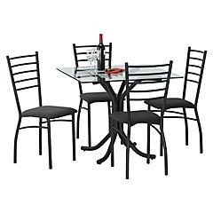 Comedor jasper 4 sillas Negro