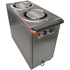 Calentador de platos industrial doble gris