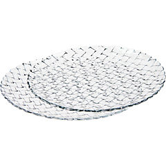 Set 2 platos cristal Clear Braid 32 cm