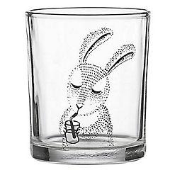 Vaso de vidrio conejo 250 ml