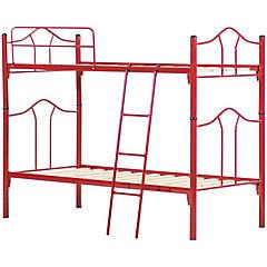 Camarote metal 1.5 plazas rojo