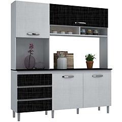 Modular de cocina florencia 1.98x1.82x0.48 cm blanco/negro