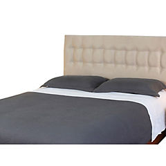 Respaldo de cama king botone beige