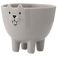 Bowl decorativo 9,5x8 cm cerámica gris