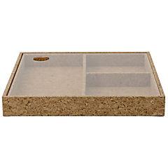 Organizador escritorio 24x3,5x24 cm corcho natural