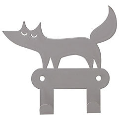 Gancho metálico 10,5x11,5 cm zorro gris